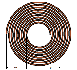 Tesla flat spiral coil calculator
